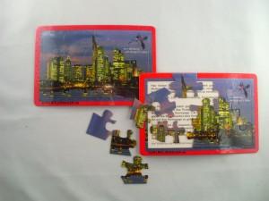 Puzzle Postkarte als Werbeartikel